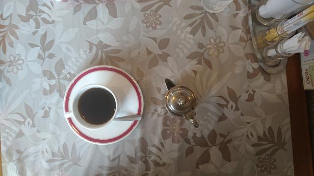 ランチメニューには本格的なコーヒー付き