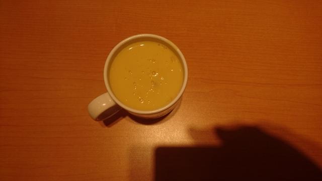 コーンポタージュ・・ステーキ宮、食事日のスープバーの一品
